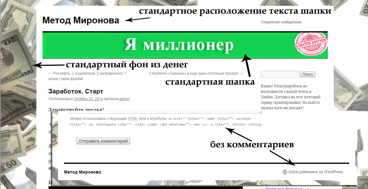 Голый WordPress